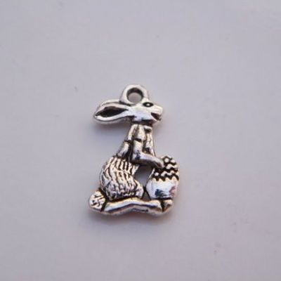 Easter Bunny Keyring - Triple Charm Style